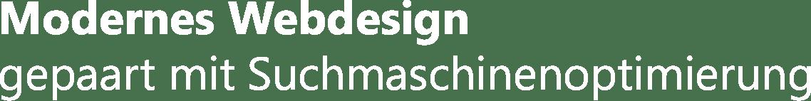 Text Modernes Webdesign gepaart mit Suchmaschinenoptimierung